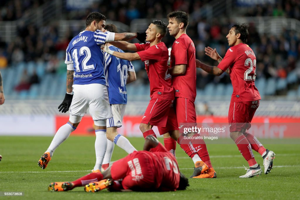 Real Sociedad v Getafe - La Liga Santander : News Photo