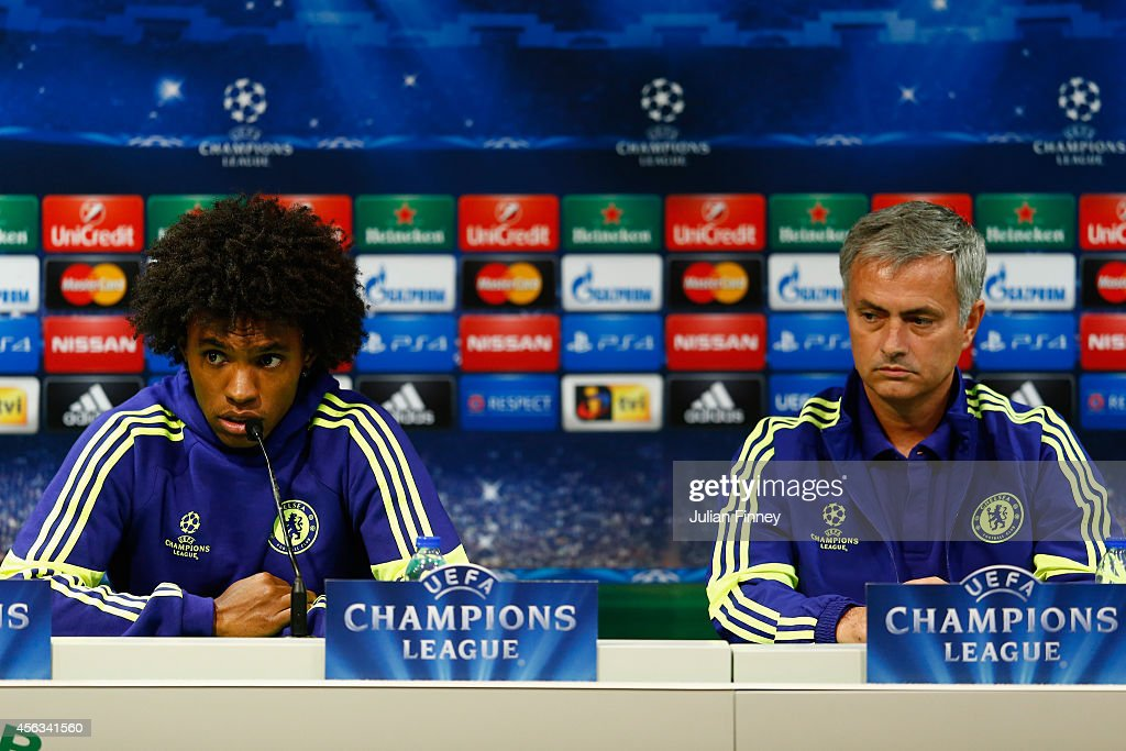 Chelsea FC & Sporting Lisbon Press Conference : News Photo