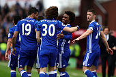 stoke trent england willian chelsea celebrates