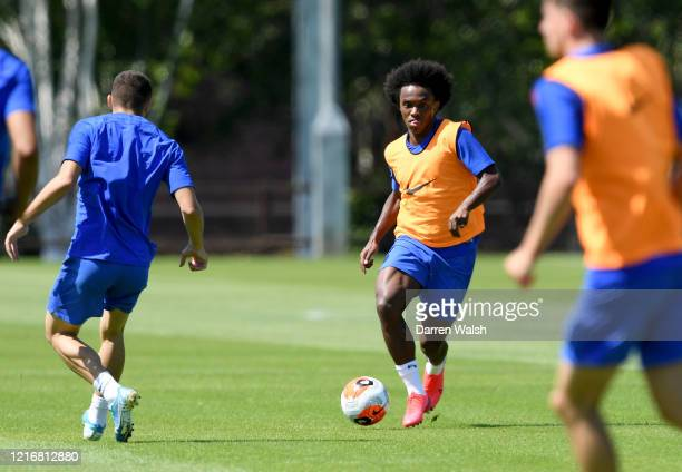 Willian of Chelsea during a contact training session at Chelsea Training Ground on June 1 2020 in Cobham England