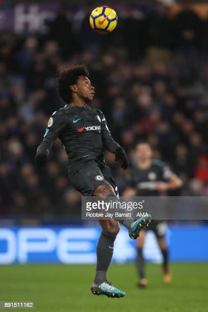 Willian of Chelsea during the Premier League match between Huddersfield Town and Chelsea at John Smith's Stadium on December 12 2017 in Huddersfield...