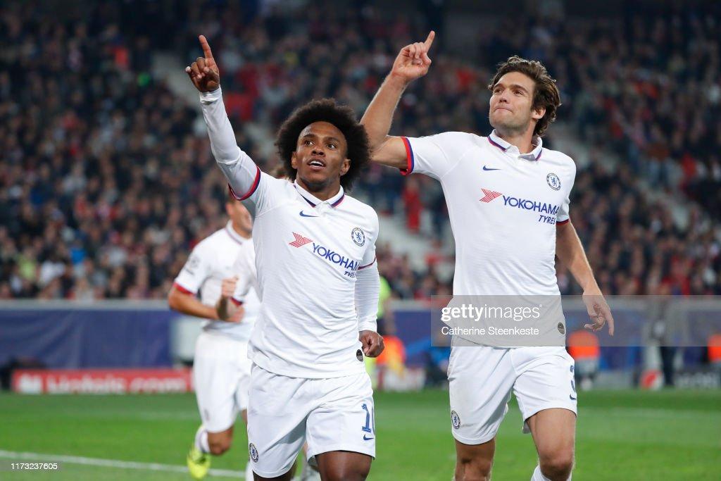 Lille OSC v Chelsea FC: Group H - UEFA Champions League : News Photo