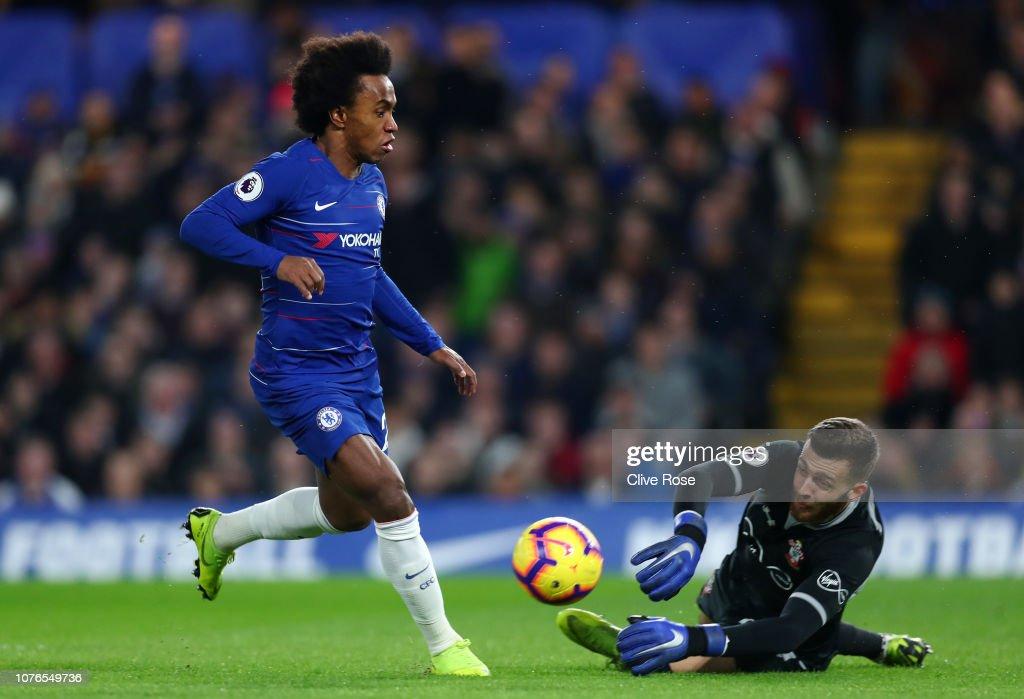 Chelsea FC v Southampton FC - Premier League : Nachrichtenfoto