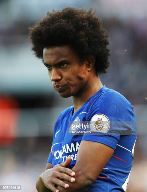 Willian of Chelsea is seen during the Premier League match between Newcastle United and Chelsea at St James Park on May 13 2018 in Newcastle upon...