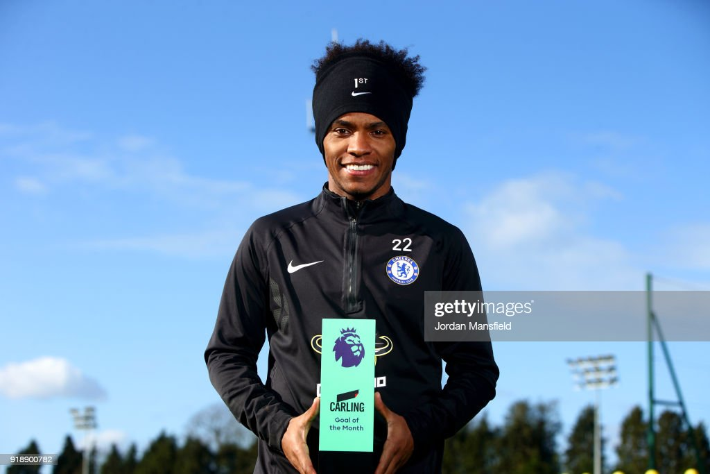 Willian wins the Carling Premier League Goal of the Month Award for January 2018