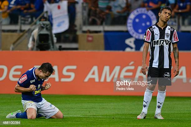 Willian of Cruzeiro and Marcos Rocha of Atletico MG battle for the ball during a match between Cruzeiro and Atletico MG as part of Brasileirao Series...