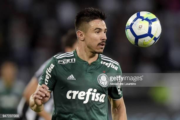 Willian of Palmeiras in action during the match between Botafogo and Palmeiras as part of Brasileirao Series A 2018 at Engenhao Stadium on April 16...