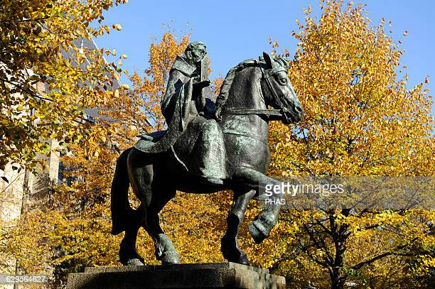 """Willibrord . Northumbrian missionary saint, know as the """"Apostle to the Frisians"""". Statue. Utrecht. Netherlands."""