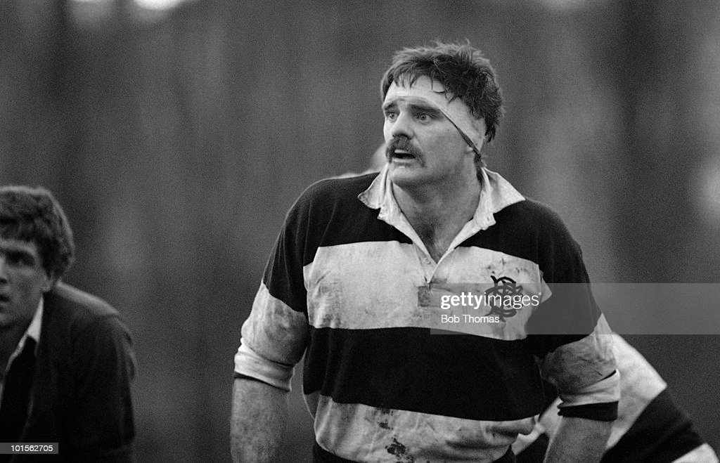 Willie Anderson of Barbarians and Dungannon in action against East Midlands during a Rugby Union match held at Franklin's Gardens, Northampton on 5th March 1986. Barbarians beat East Midlands 35-6. (Bob Thomas/Getty Images).