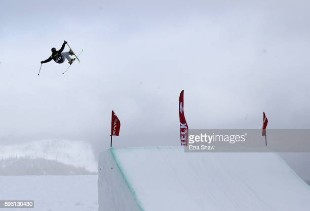 Willie Borm competes in the Men's Ski Slopestyle qualifier during Day 2 of the Dew Tour on December 14 2017 in Breckenridge Colorado