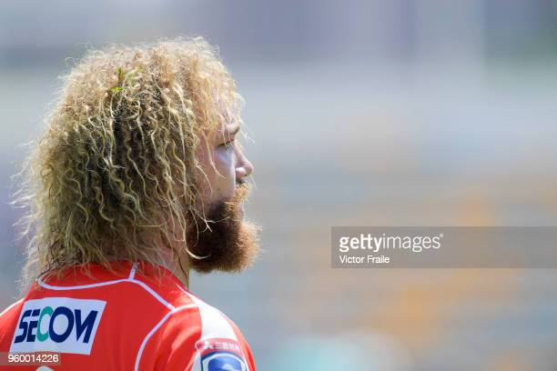 Willie Britz of Sunwolves looks on during the Super Rugby match between Sunwolves and Stormers at Mong Kok Stadium on May 19 2018 in Hong Kong