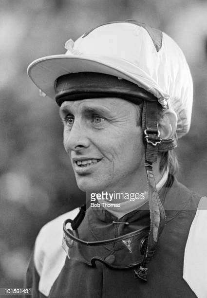Willie Carson flat race jockey pictured at Newmarket Flat Races in October 1986