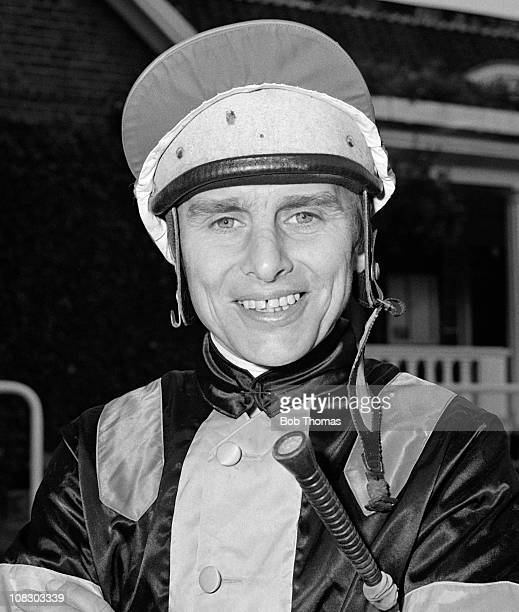 Willie Carson flat racing jockey at Leicester Racecourse 1980