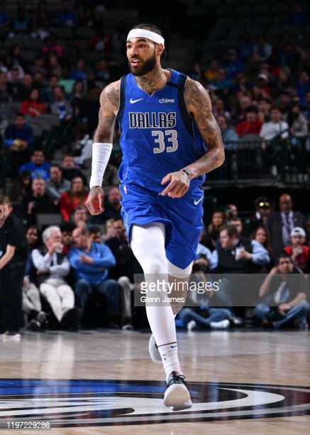 Willie Cauley-Stein of the Dallas Mavericks looks on during the game against the Phoenix Suns on January 28, 2020 at the American Airlines Center in...