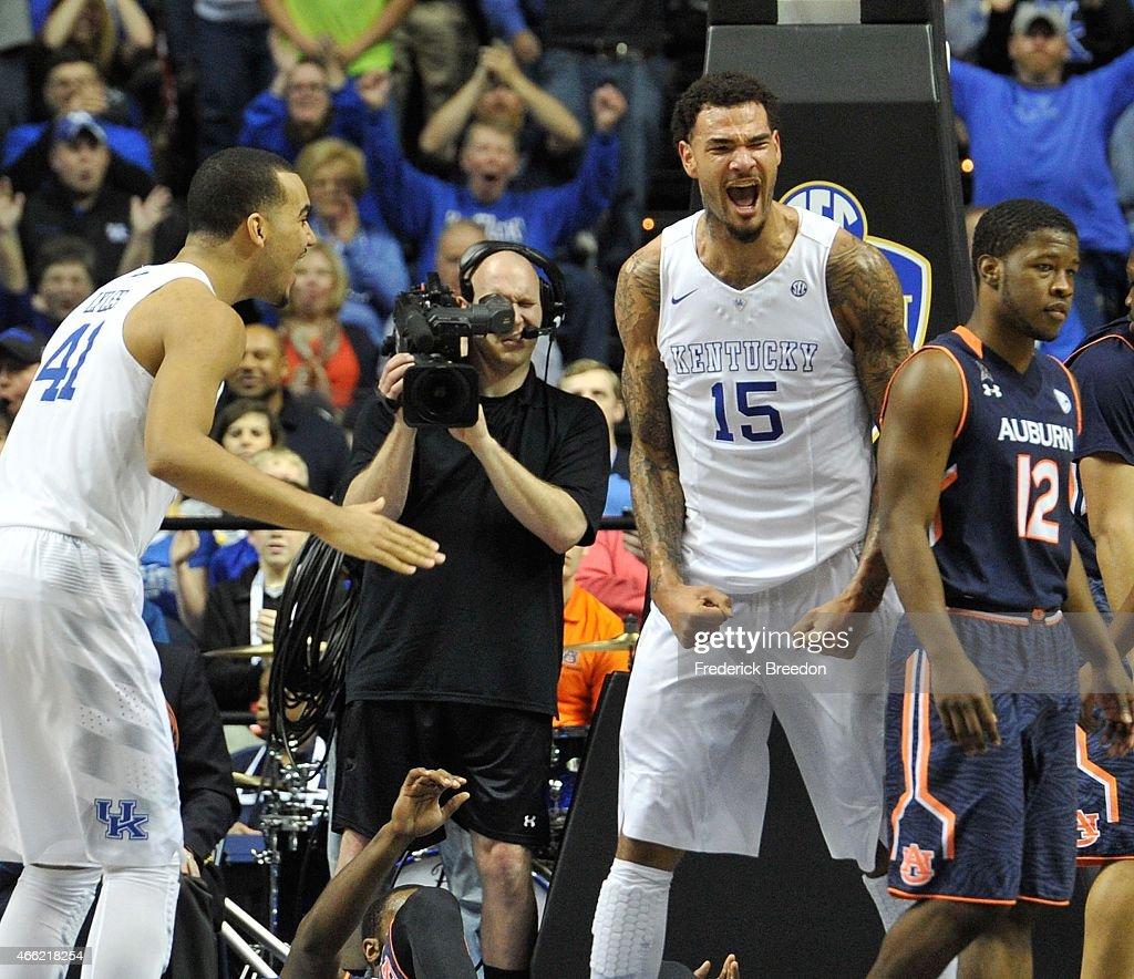 SEC Basketball Tournament - Semifinals - Kentucky vs Auburn : News Photo
