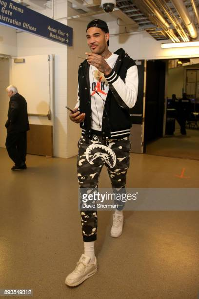 Willie CauleyStein of the Sacramento Kings arrives at the stadium before the game against the Minnesota Timberwolves on December 14 2017 at Target...