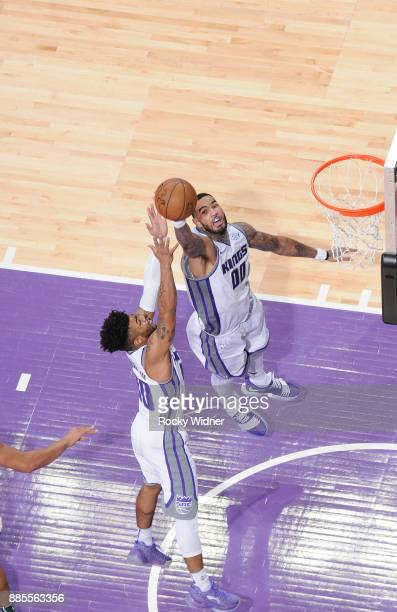 Willie CauleyStein of the Sacramento Kings rebounds against the Milwaukee Bucks on November 28 2017 at Golden 1 Center in Sacramento California NOTE...