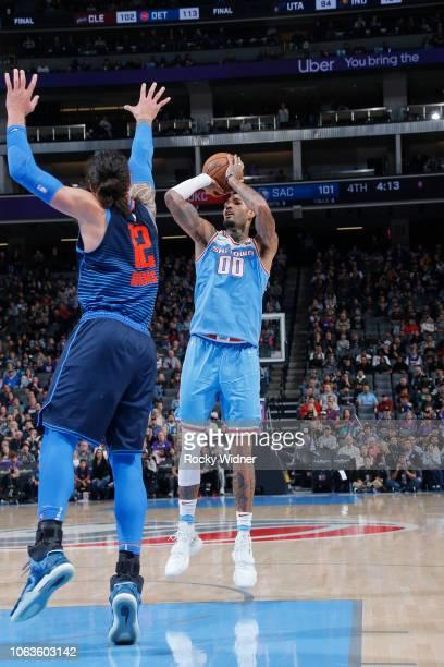 Willie CauleyStein of the Sacramento Kings shoots the ball against the Oklahoma City Thunder on November 19 2018 at Golden 1 Center in Sacramento...