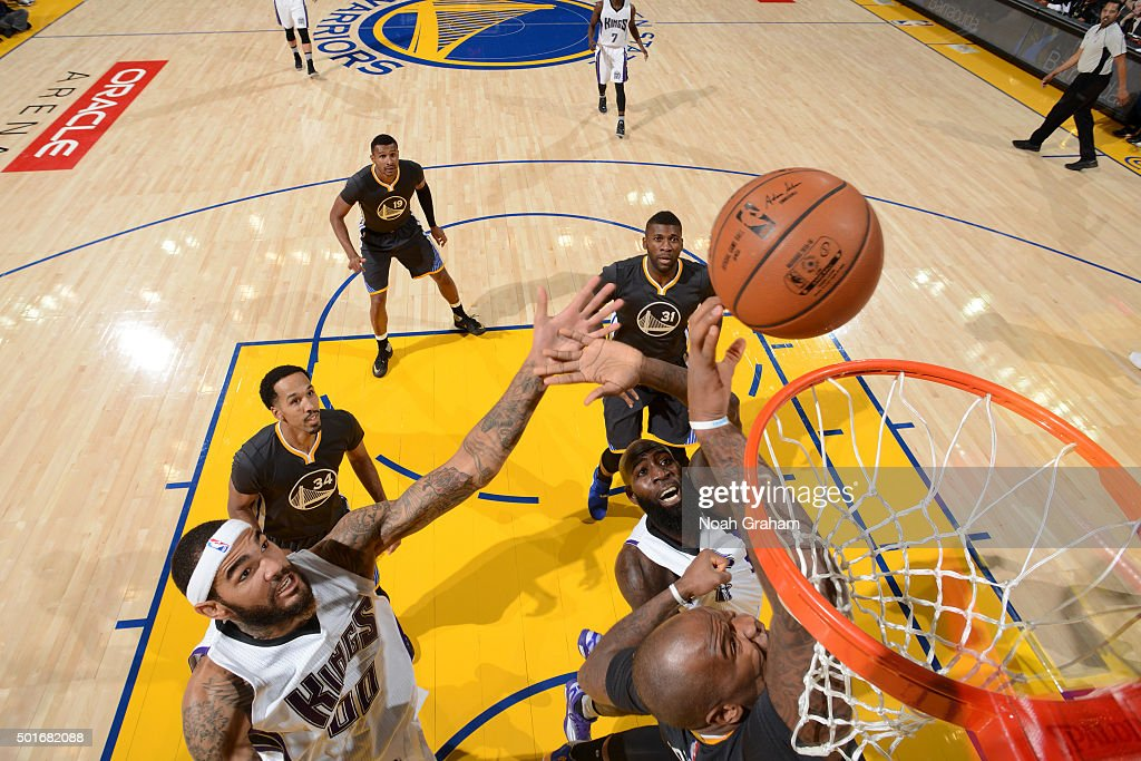 Willie Cauley-Stein #00 of the Sacramento Kings shoots the ball against the Golden State Warriors on November 28, 2015 at ORACLE Arena in Oakland, California.