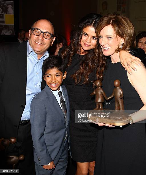 Willie Garson Nathen Garson Selena Gomez and Anne Sweeney attend The Alliance For Children's Rights 22nd Annual Dinner held at the Beverly Hilton...