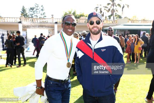 Willie Gault and Chris Evans attend GOLD MEETS GOLDEN 2020, presented by Coca-Cola, BMW Beverly Hills And FASHWIRE, and hosted by Nicole Kidman and...