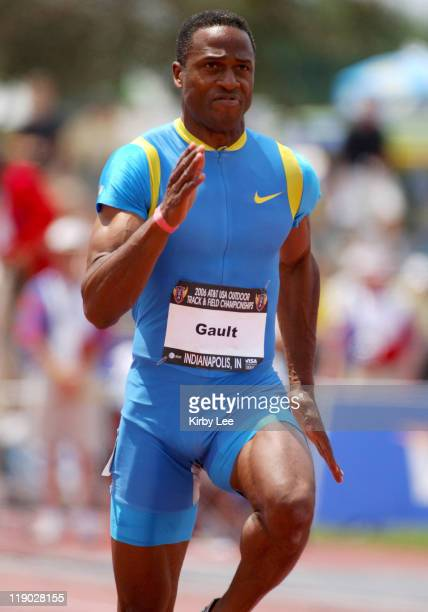 Willie Gault won the Masters 100 meters in a age 4549 world record of 1072 in the USA Track Field Championships at IUPUI's Michael A Carroll Track...