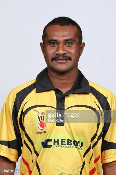 Willie Gavera of Papua New Guinea poses during a Papua New Guinea headshots session at the Realm Hotel on February 14 2017 in Canberra Australia