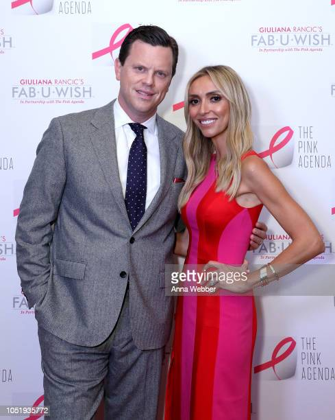 Willie Geist and Giuliana Rancic attend The Pink Agenda's Annual Gala at Tribeca Rooftop on October 11 2018 in New York City