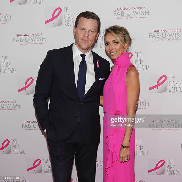 Willie Geist and television personality/event hostess Giuliana Rancic attend The Pink Agenda's 2016 Gala held at Three Sixty on October 13 2016 in...
