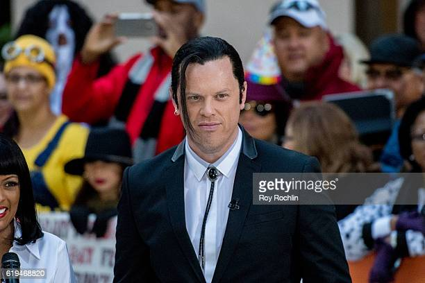 Willie Geist dresses as John Travolta's character from 'Pulp Fiction' during NBC's 'Today' Halloween at Rockefeller Plaza on October 31 2016 in New...