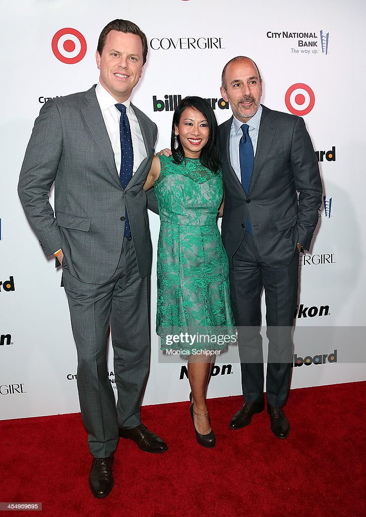 Willie Geist, Melissa Lonner and Matt Lauer attend the 2013 Billboard Annual Women in Music Event at Capitale on December 10, 2013 in New York City.