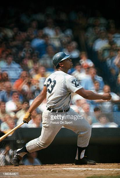 Willie Horton of the Detroit Tiger bats against the New York Yankees during an Major League Baseball game circa 1968 at Yankee Stadium in the Bronx...