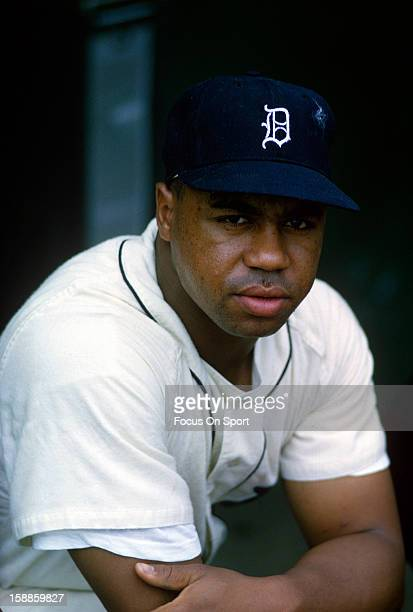 Willie Horton of the Detroit Tiger looks on during an Major League Baseball game circa 1965 at Tiger Stadium in Detroit Michigan Horton played for...