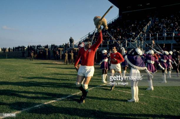 Willie John McBride leads out the British Lions during the Rugby Lions tour of South Africa, South Africa. \ Mandatory Credit: Allsport UK /Allsport