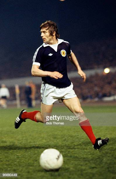 Willie Johnston in action for Scotland during their Home International Championship match against Northern Ireland at Hampden Park in Glasgow 13th...