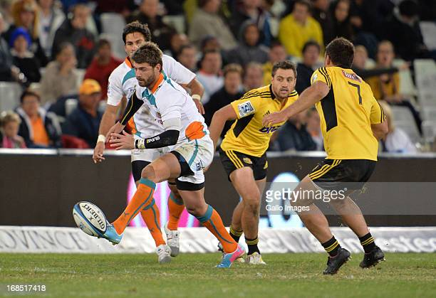 Willie le Roux during the Super Rugby match between Toyota Cheetahs and Hurricanes at Free State Stadium on May 10 2013 in Bloemfontein South Africa