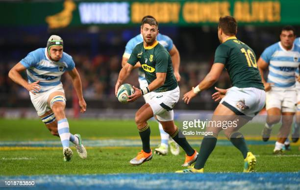 Willie le Roux of South Africa during the Rugby Championship match between South Africa and Argentina at Jonsson Kings Park on August 18 2018 in...