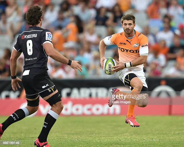 Willie le Roux of the Cheetahs during the Super Rugby match between Toyota Cheetahs and Cell C Sharks at Free State Stadium on March 14 2015 in...