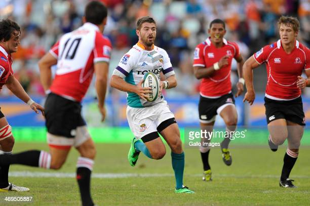 Willie le Roux of the Cheetahs during the Super Rugby match between Toyota Cheetahs and Lions at Vodacom Park on February 15 2014 in Bloemfontein...
