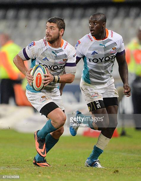 Willie le Roux of the Cheetahs during the Super Rugby match between Toyota Cheetahs and Vodacom Bulls at Free State Stadium on February 21 2014 in...