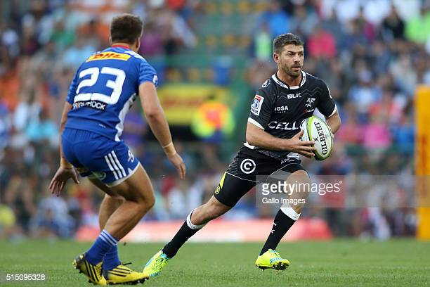 Willie le Roux of the Sharks on the attack during the 2016 Super Rugby match between DHL Stormers and Cell C Sharks at DHL Newlands on March 12 2016...