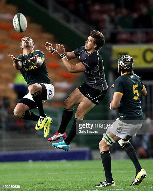 Willie le Roux of the Springbok in action during the International match between South Africa and World XV at DHL Newlands Stadium on June 07 2014 in...