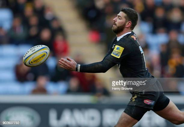 Willie le Roux of Wasps during the Aviva Premiership match between Wasps and Saracens at The Ricoh Arena on January 7 2018 in Coventry England