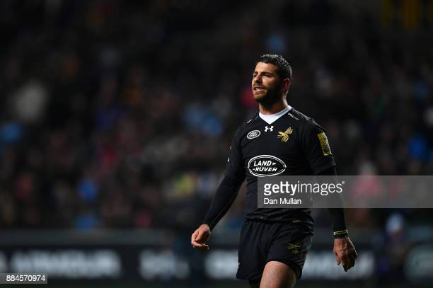 Willie Le Roux of Wasps looks on during the Aviva Premiership match between Wasps and Leicester Tigers at The Ricoh Arena on December 2 2017 in...