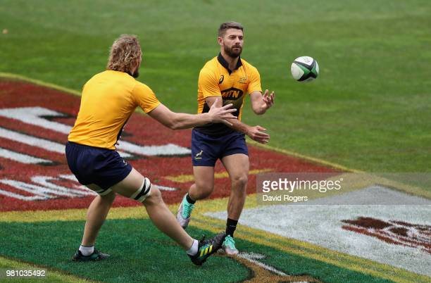 Faf de Klerk looks on during the South Africa captain's run at Newlands Stadium on June 22 2018 in Cape Town South Africa