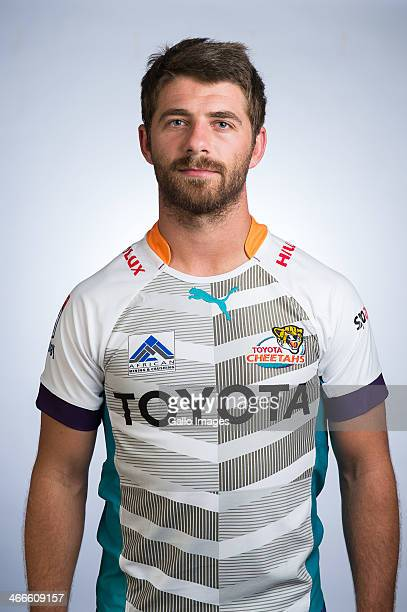 Willie le Roux poses during a Cheetahs Super Rugby headshots session on January 27 2014 in Bloemfontein South Africa