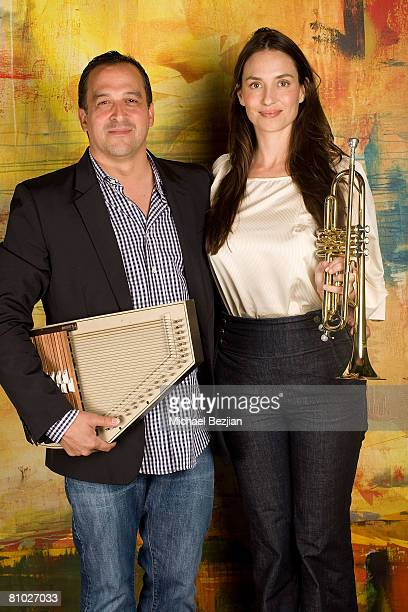 Willie Maldonado and Amanda Braun pose at the Celebrities Support The Echelon Club 'Keeping Harmony Alive' on May 7 2008 in Santa Monica California
