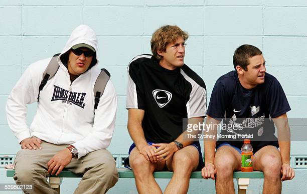 Willie Mason at the Canterbury Pool after a Bulldogs recovery session 20 September 2004 SMH SPORT Picture by CRAIG GOLDING