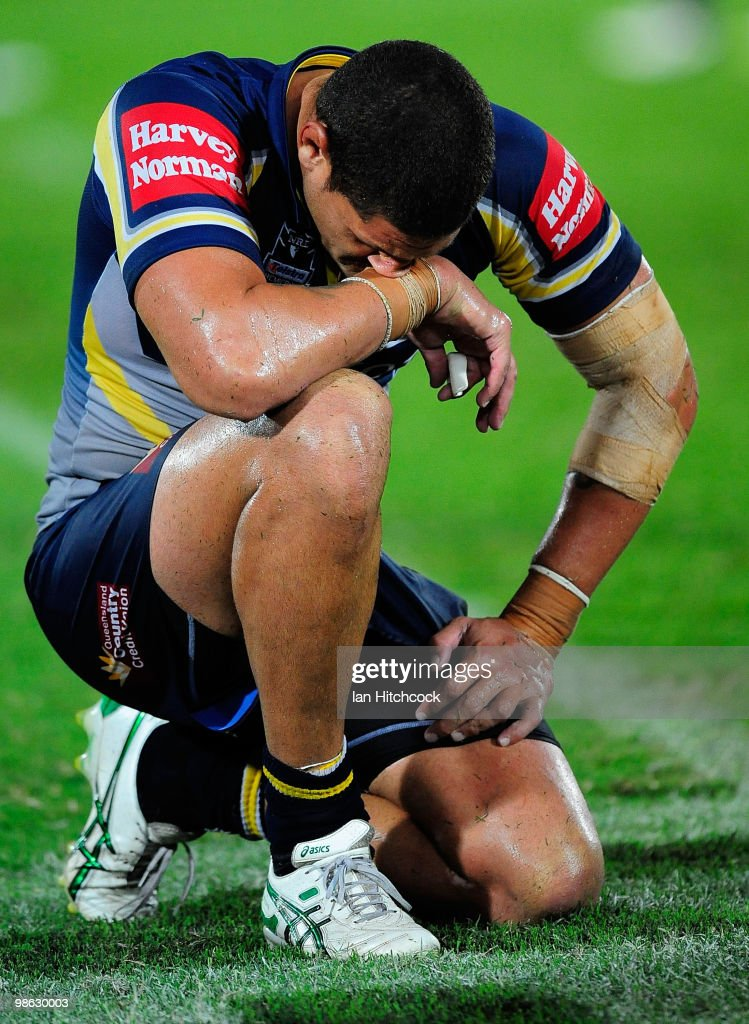 Willie Mason of the Cowboys reacts after losing the round seven NRL match between the North Queensland Cowboys and the Parramatta Eels at Dairy Farmers Stadium on April 23, 2010 in Townsville, Australia.