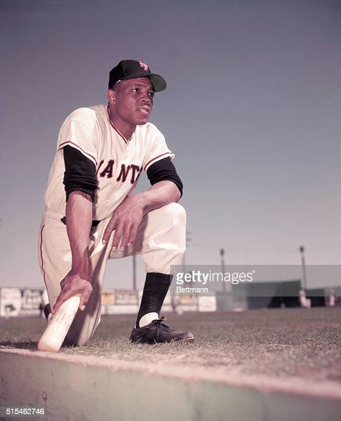 Willie Mays of the New York Giants. March 1955